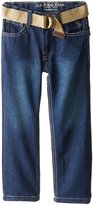 U.S. Polo Assn. Little Boys' Pocket Belted Straight Fit Jean