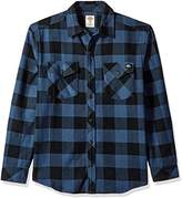 Dickies Men's Relaxed Fit Long Sleeve Brawny Plaid Shirt