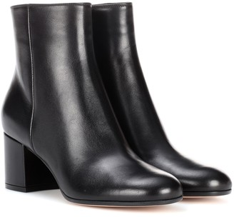 Gianvito Rossi Margaux leather ankle boots