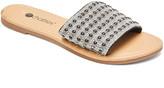 Chatties Women's Sandals BLACK - Black Rhinestone Slide - Women