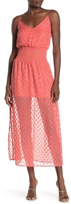 NSR Sofia Smocked Waist Midi Dress