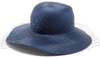 Stephen Jones Bewitched Net-veil Woven Hat - Navy