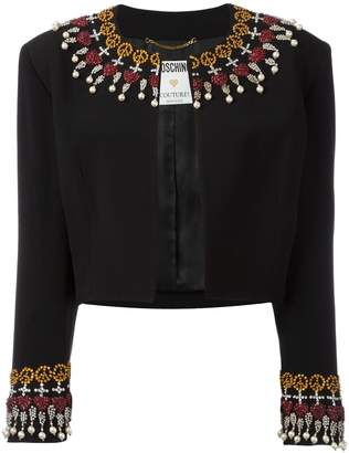 Moschino Pre-Owned embellished cropped jacket