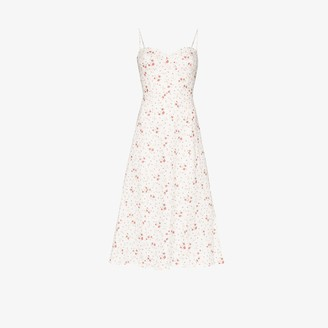 Reformation Nebraska floral print slit midi dress