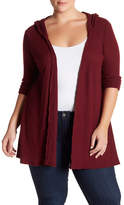 Susina Waffle Knit Hooded Cardigan (Plus Size)