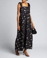 Warm Lover Floral Metallic Maxi Dress
