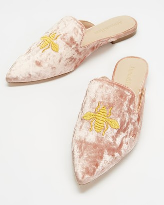 Atmos & Here Atmos&Here - Women's Pink Brogues & Loafers - Den Velvet Slippers - Size 36 at The Iconic