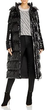 Anine Bing Mary Shiny Longline Puffer Coat