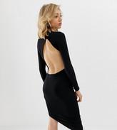 Asos DESIGN Petite extreme open back mini dress