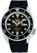 Seiko 5 Sports Suits Stainless Steel Silicone-Strap Watch