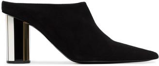 Proenza Schouler Black Mirror Heel 90 Suede Leather Mules