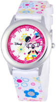 Disney Watch, Kid's Minnie Mouse Time Teacher Floral Printed Nylon Strap 30mm W000364