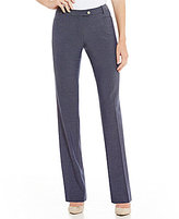 Calvin Klein Petites Luxe Stretch Dressy Denim Suiting Modern Fit Straight-Leg Pants