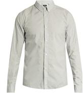 A.P.C. Daisy chain-print cotton-poplin shirt