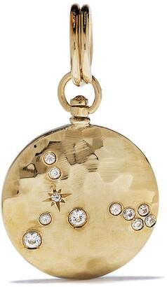 Feidt Paris 9kt Yellow Gold Sapphire Constellation Medallion
