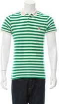 MAISON KITSUNÉ Striped Polo Shirt