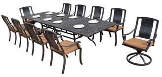 Oakland Living Vanguard 11 Piece Dining Set with Cushions Oakland Living