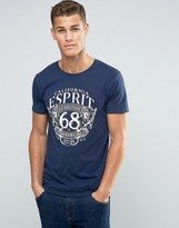 Esprit Crew Neck T-Shirt with Print