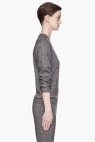 Alexander Wang Charcoal grey flecked Terry Sweatshirt