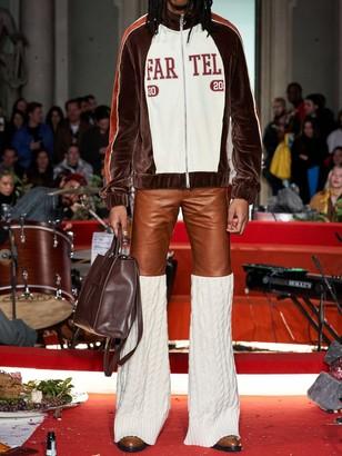 Telfar Logo Print Cotton Blend Track Jacket