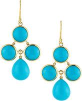 Elizabeth Showers Audrey Turquoise Chandelier Earrings