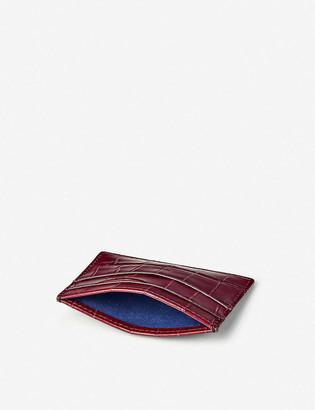 Aspinal of London New Slim croc-embossed leather cardholder