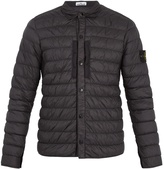 Stone Island Point-collar quilted technical jacket