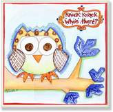Knock Knock Stupell Industries The Kids Room by Stupell Who's There Owl Square Wall Plaque