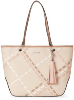 Nine West Beige & Mink Weave It Tote