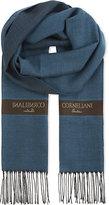 Corneliani Striped Herringbone Wool & Silk Scarf