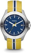 Fossil Men's Retro Traveler AM4477 Two-Tone Nylon Quartz Watch with Dial