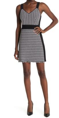 Derek Lam 10 Crosby Cami Fringe Trim Mini Dress