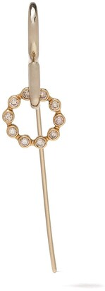 Charlotte Chesnais 18kt yellow gold Swing diamond single earring