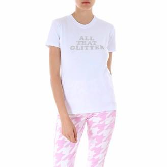 Chiara Ferragni Glittered Logo Print T-Shirt
