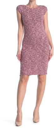 Velvet Torch Brushed Cap Sleeve Bodycon Dress