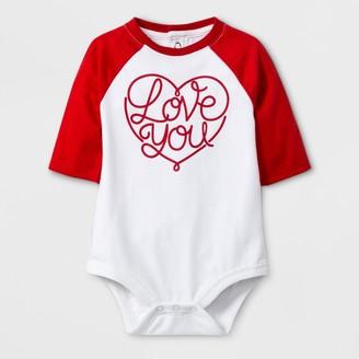 Cat & Jack Baby 3/4 Sleeve 'Love You' Bodysuit