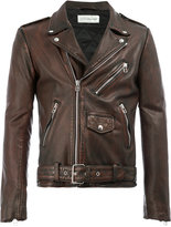 Faith Connexion classic biker jacket - men - Calf Leather/Polyester/Acetate - M
