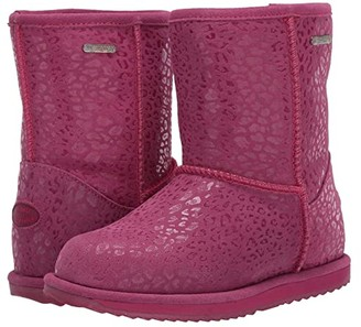 Emu Leopard Brumby (Toddler/Little Kid/Big Kid) (Berry) Girls Shoes