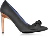 Proenza Schouler Black Leather Bow Pump