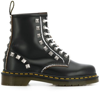 Dr. Martens studded lace-up boots
