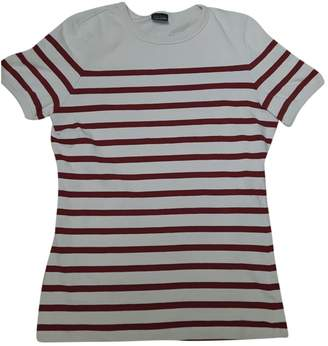Jean Paul Gaultier Red Cotton Top for Women