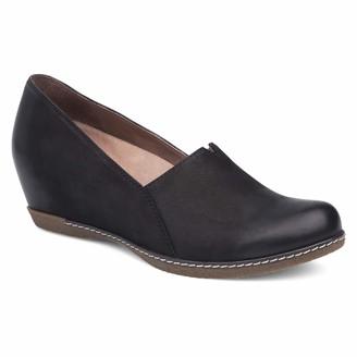 Dansko Women's Liliana Loafer Flat Black Burnished Nubuck 37 M EU (6.5-7 US)
