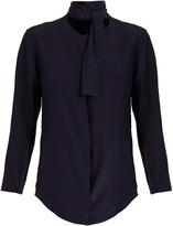 Nina Ricci Tie-neck silk crepe de Chine blouse