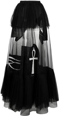 Barbara Bologna Ankh Cross Full Tulle Skirt