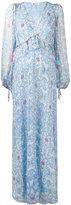 Dondup printed frill trim dress - women - Silk/Cupro/Spandex/Elastane - 42