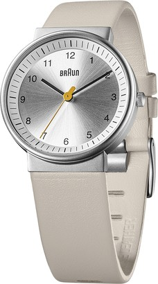 Braun Unisex Analogue Watch with Leather Strap 66567
