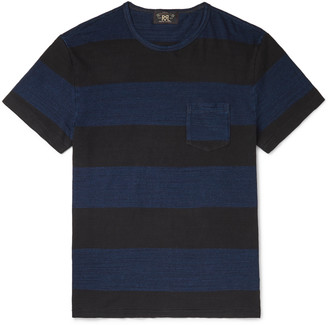 Ralph Lauren RRL Striped Melange Cotton-Jersey T-Shirt