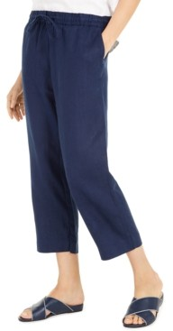 Charter Club Linen Capri Tie-Waist Pants, Created for Macy's