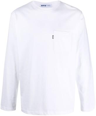 AFFIX Logo Print Long-Sleeve Top