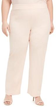 Nine West Plus Size Pull-On Wide-Leg Pants